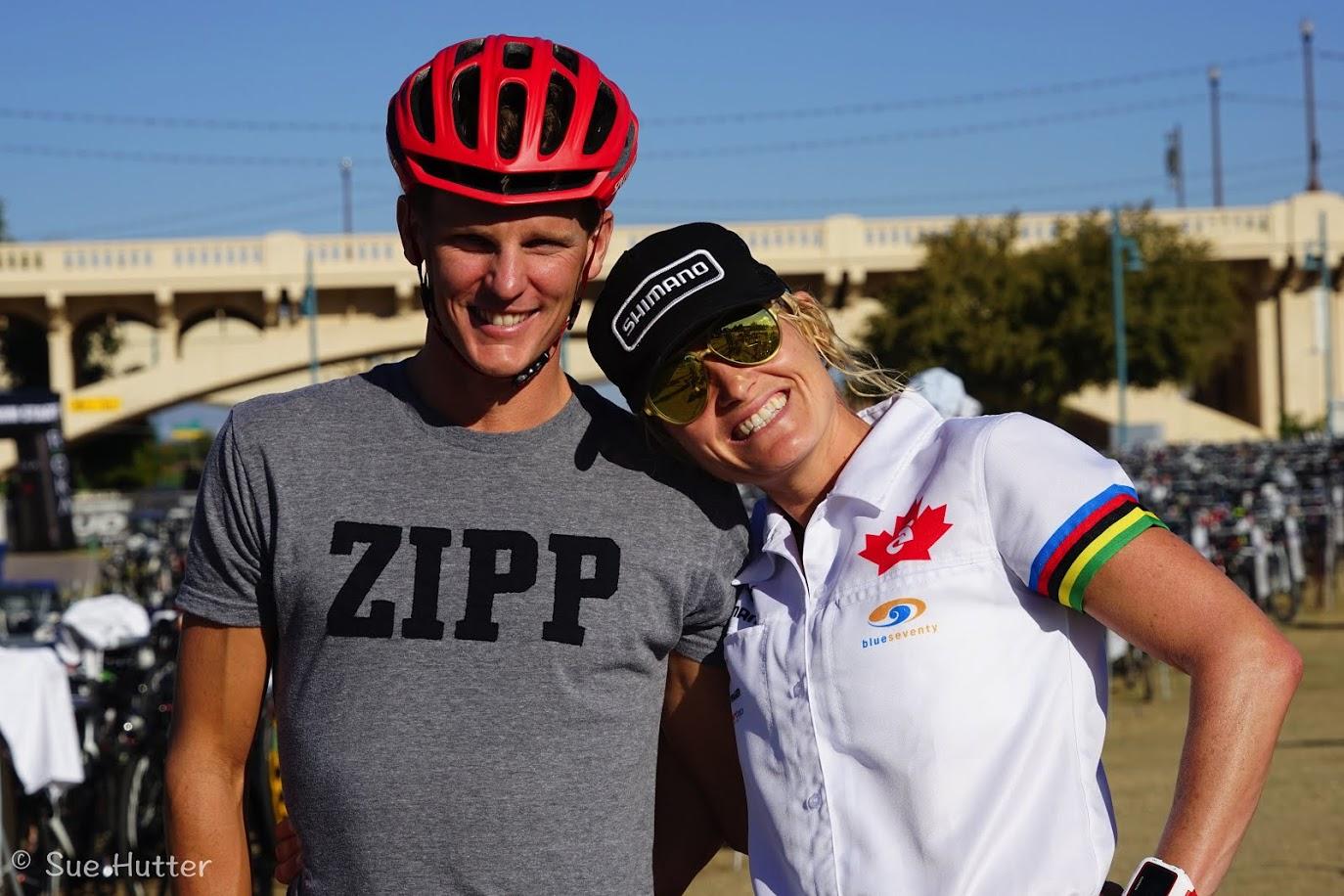 Professional triathletes Melanie Mcquaid and Brent Mcmahon